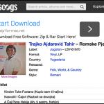 Discogs page w Tahir album-resized