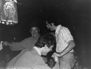 Nestor, Mark and Steve K with light bulb cover