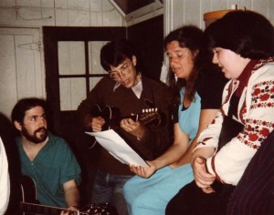 Playing brac at Mendocino in the 1980s.